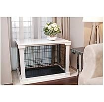 Zoovilla Crate with White Wood Crate Cover (Choose Your Size…