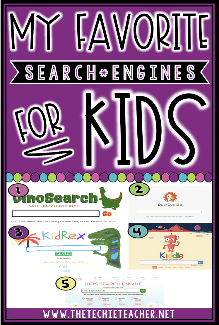 My favorite search engines for kids and elementary students to use for safe online research.