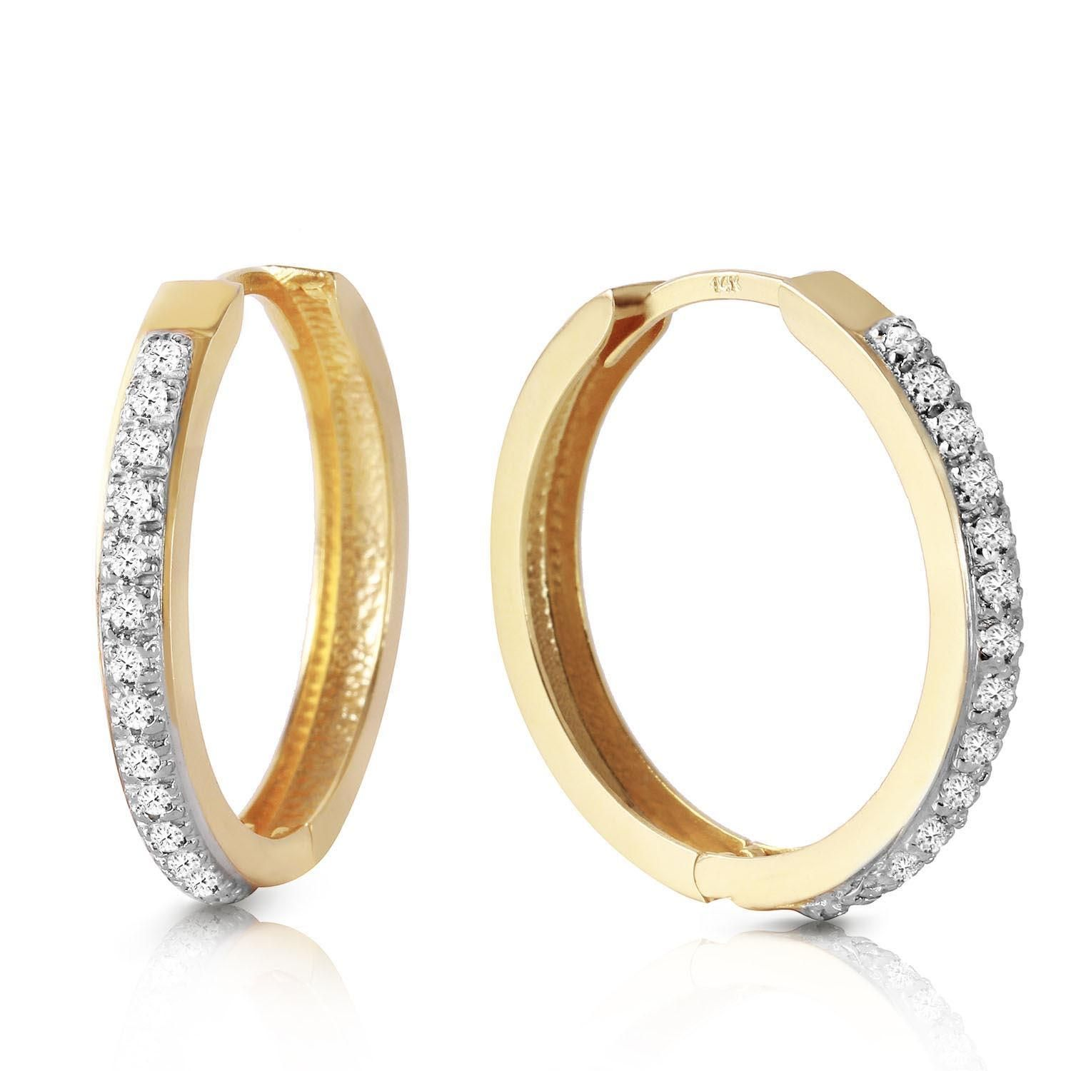 QP Jewellers QP Jewellers Diamond Huggie Earrings in 9ct Gold