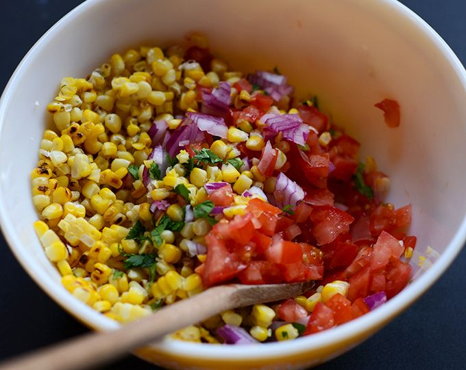 Grilled Corn Salsa Recipe | minimalistbaker.com
