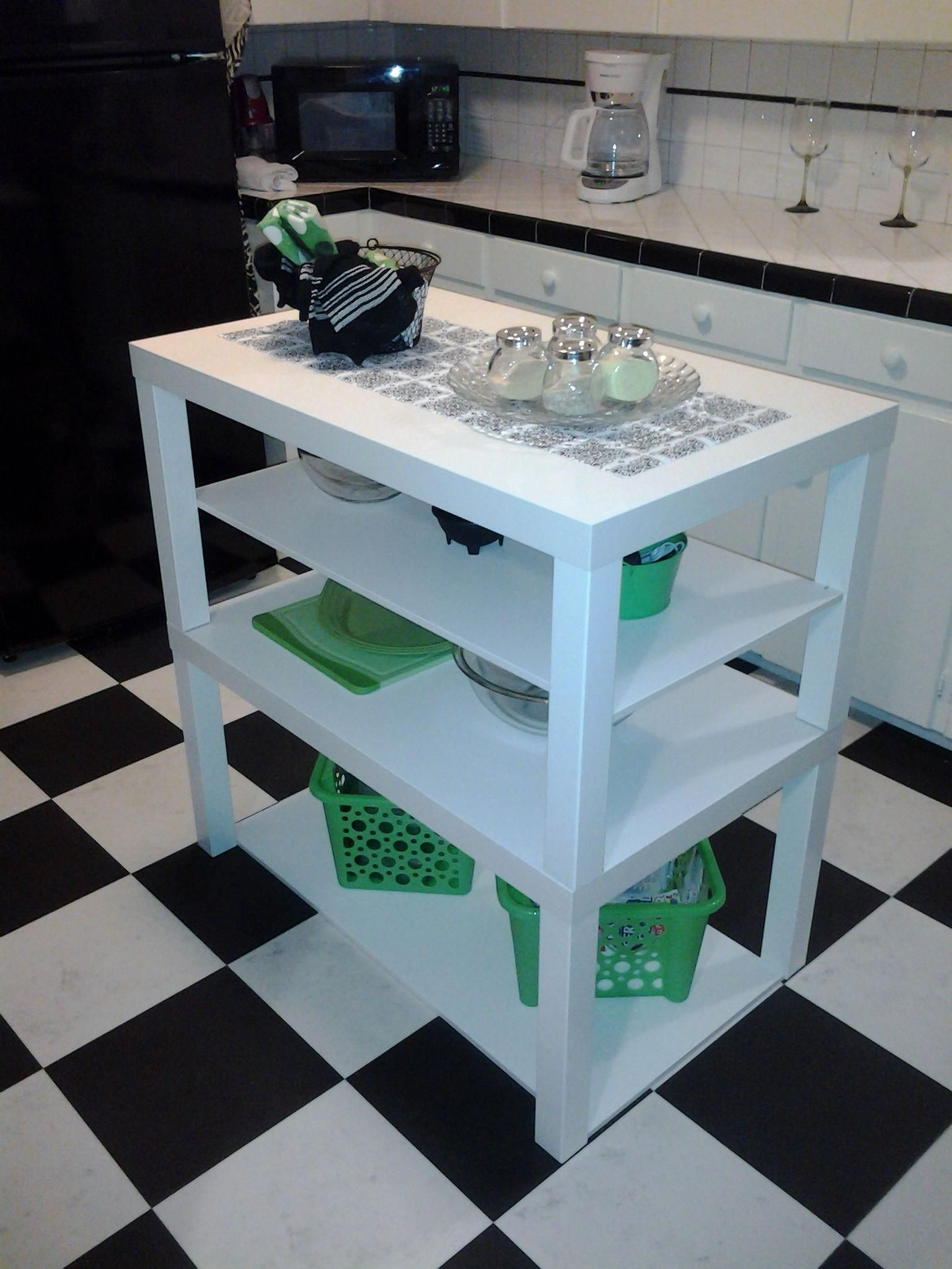 ikea hack ikea lack coffee tables turned cute little kitchen island by a diy beginner on kitchen island ideas diy ikea hacks id=63914