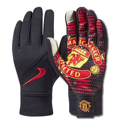 95834e16e NIKE MANCHESTER UNITED FIELD PLAYER GLOVES Black/Red/Red RED DEVILS PRIDE  The Manchester United Stadium Gloves feature your favorite club's logo on  the ...