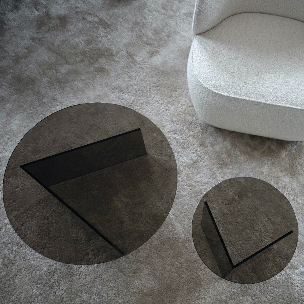 The Pond Coffee Table Gestalt New York Coffee Table Smoked Glass Side Table [ 1000 x 1000 Pixel ]