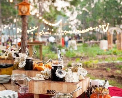 perimeter buffet around lawn outdoor farm chef table meetings rh pinterest ie