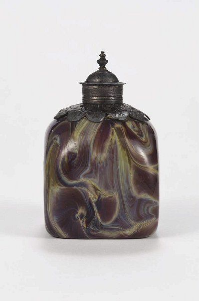 Italy, bottle, blown agate glass, 18th c