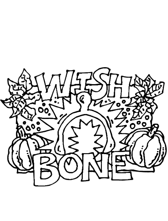 NEW! Turkey Wishbone Coloring Page | Thanksgiving coloring ...
