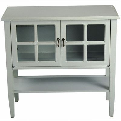 heather ann 2 door console cabinet finish sea foam green products rh pinterest com