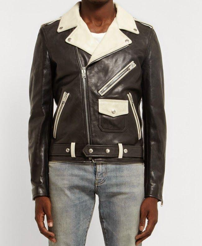 310c67d0a Black & White SAINT LAURENT Leather Jacket   Trend Setter   Jackets ...