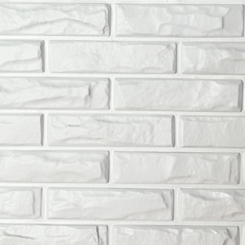 Pvc 3d Wall Panels White Brick Wall Tiles 19 7 X 19 7 12 Pack 3d Wall Panels Vinyl Wall Panels Interior Wall Design
