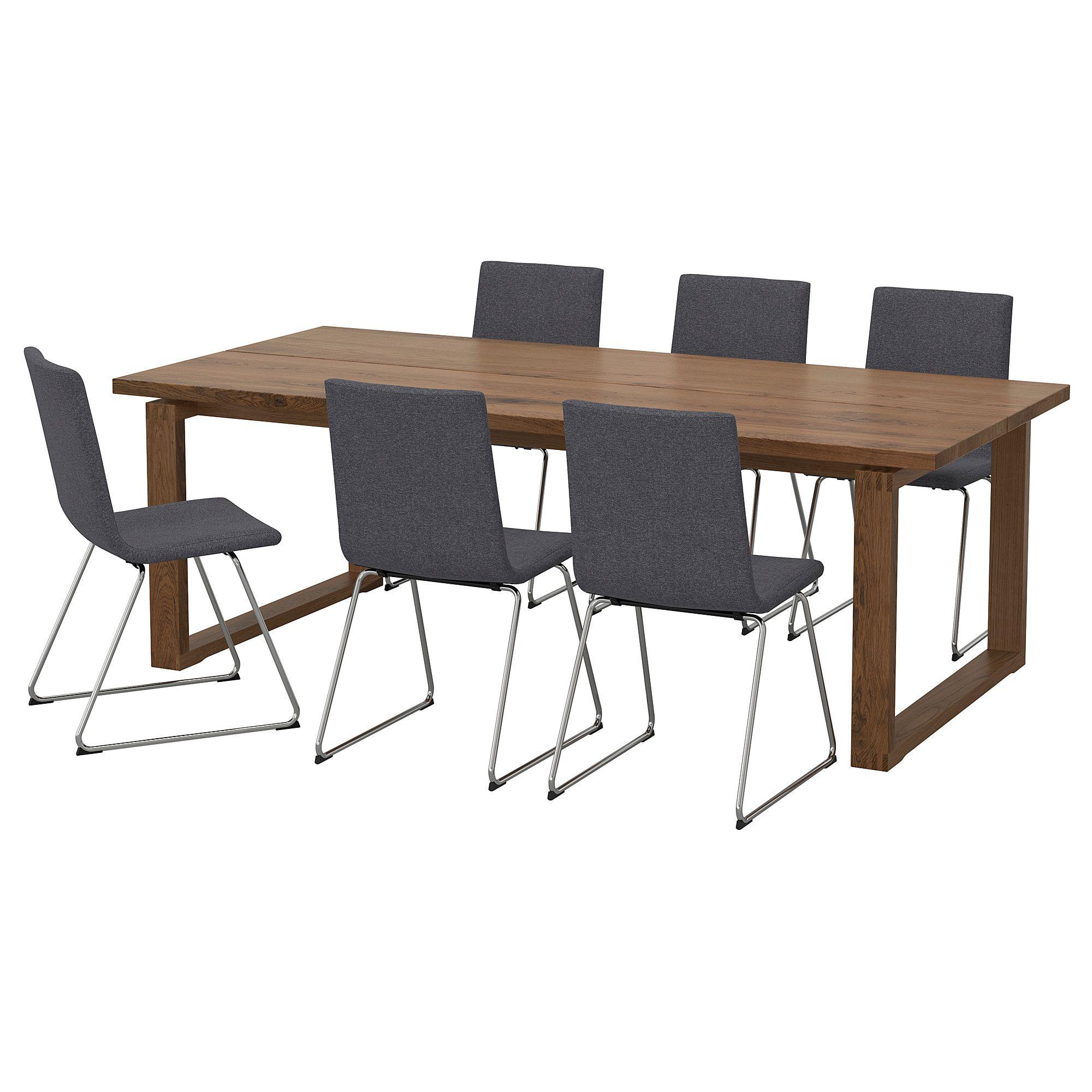 Excellent Ikea Morbylanga Volfgang Brown Gunnared Medium Gray Table Dailytribune Chair Design For Home Dailytribuneorg