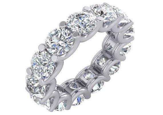 5 Carat Diamond Eternity Band 5 Carat Eternity Ring Shared Prong Diamond Eternity Band With 5 Carats Eternity Band Diamond Eternity Ring Eternity Ring Diamond