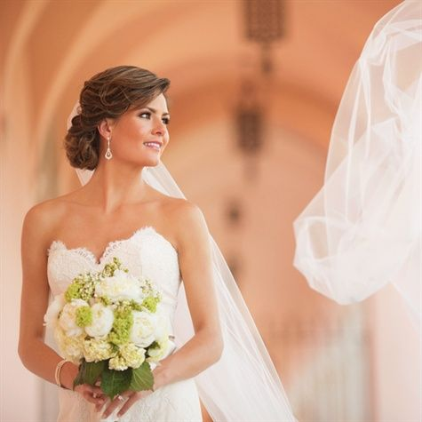 I Love The Sweetheart Neckline And I Love The Bouquet Bride