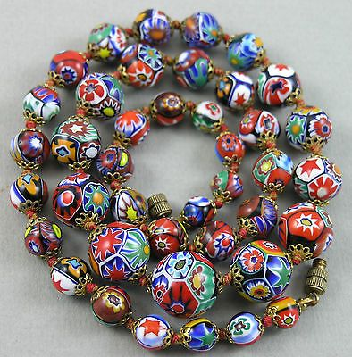 Nice Mix of Trade Beads with Large Elbow Millefiori