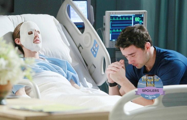 Days of Our Lives (DOOL) spoilers are heating up, and it looks like Abigail (Kate Mansi) will be burned in a fire. Soap Opera Digest reveals that Mansi's last air date is quickly approaching, and the show had to come up with a way to explain Abby's new look. It looks like the best they could come up