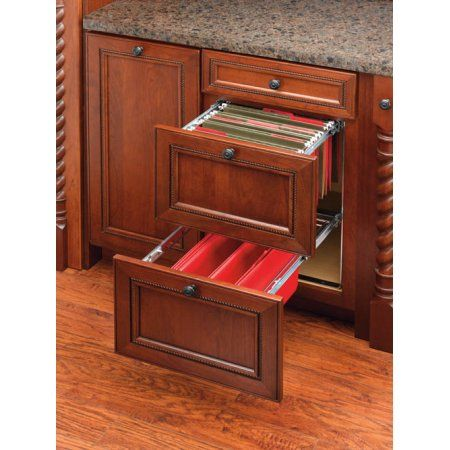 File Drawer System Two Tier For 18 Wide Base Cabinets Frame