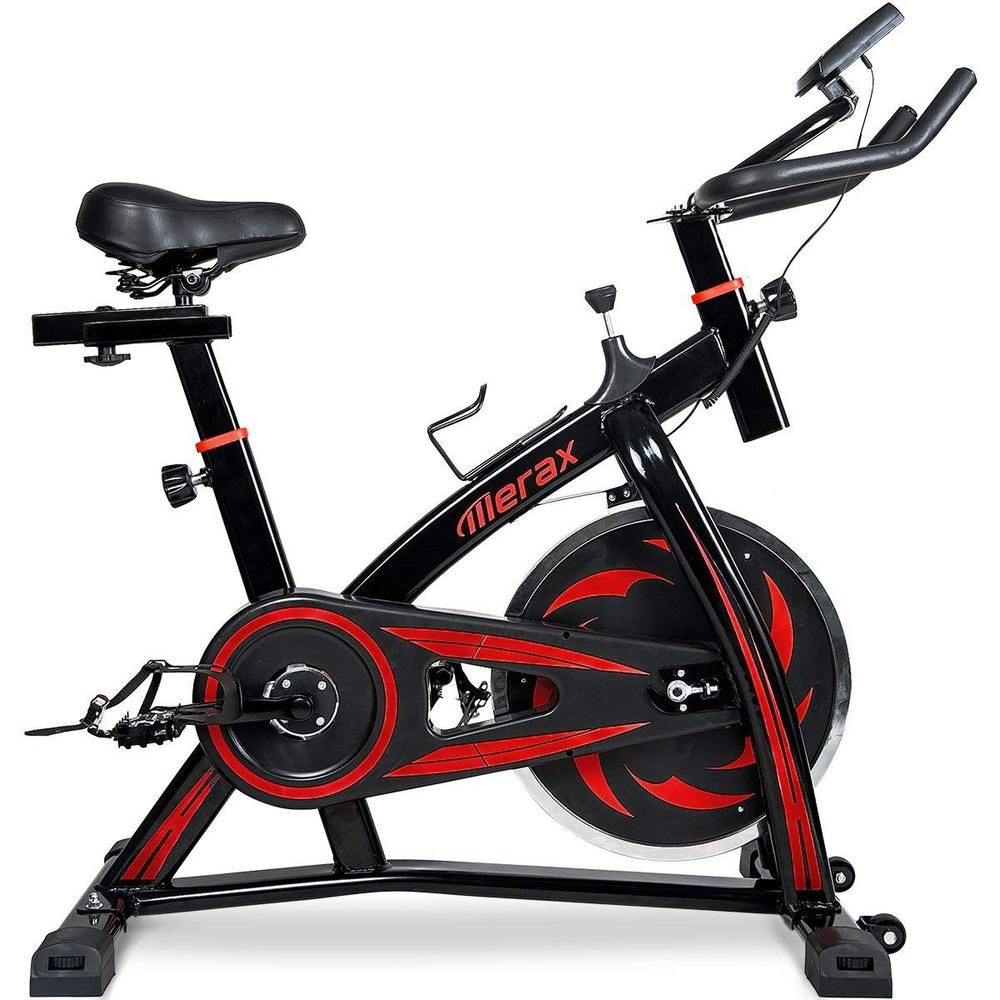 Merax Pro Stationary indoor Cycling Bike Fitness Cycle Trainer Exercise Bicycle
