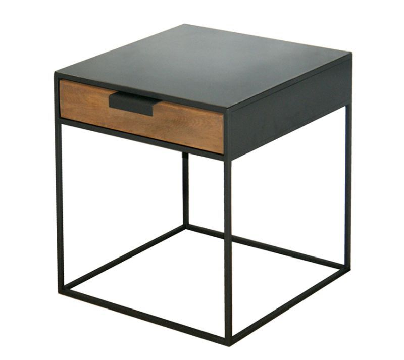 Chevet Bout De Canape Design Metal Et Bois Sur Mesure Bout De Canape Design Bout De Canape Table De Chevet Design