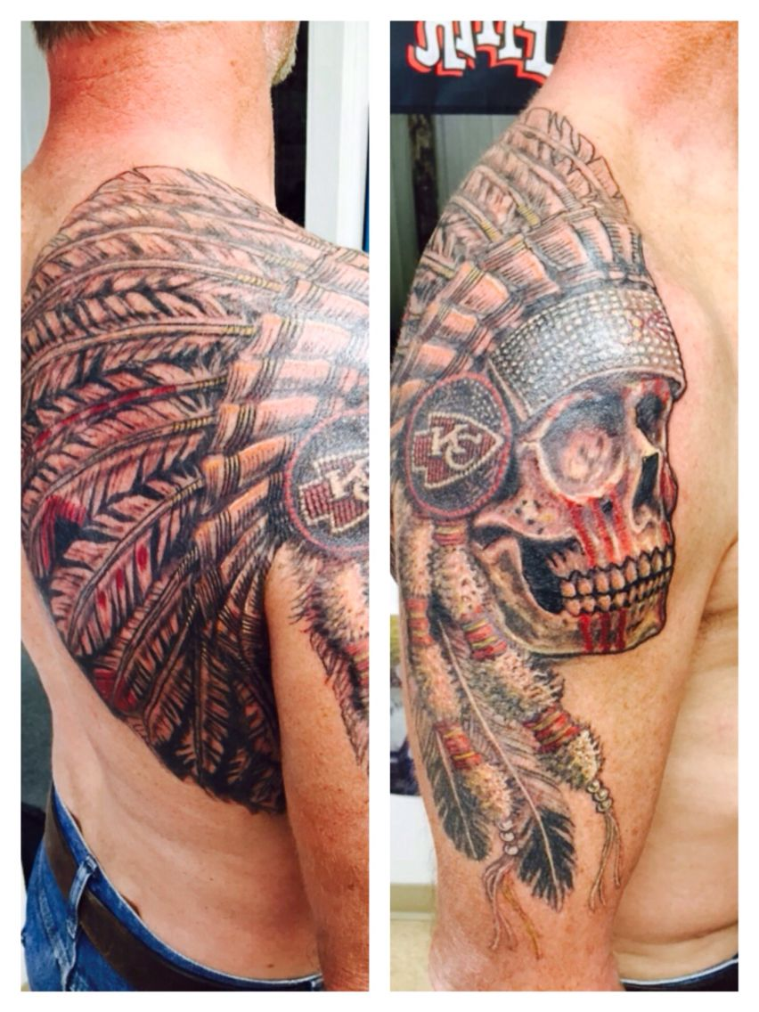 Kansas city chiefs tattoo by koos at skin illustrations of