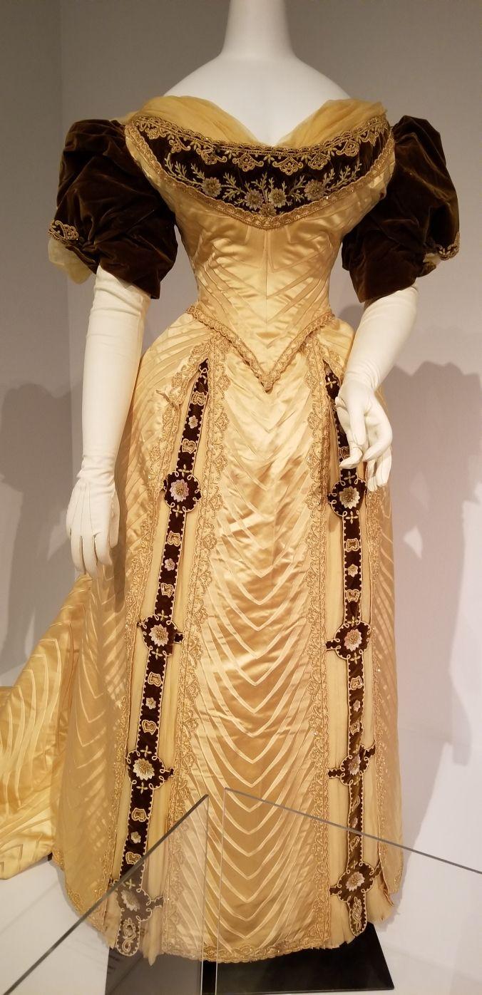 Evening gown maison felix c historic costume in