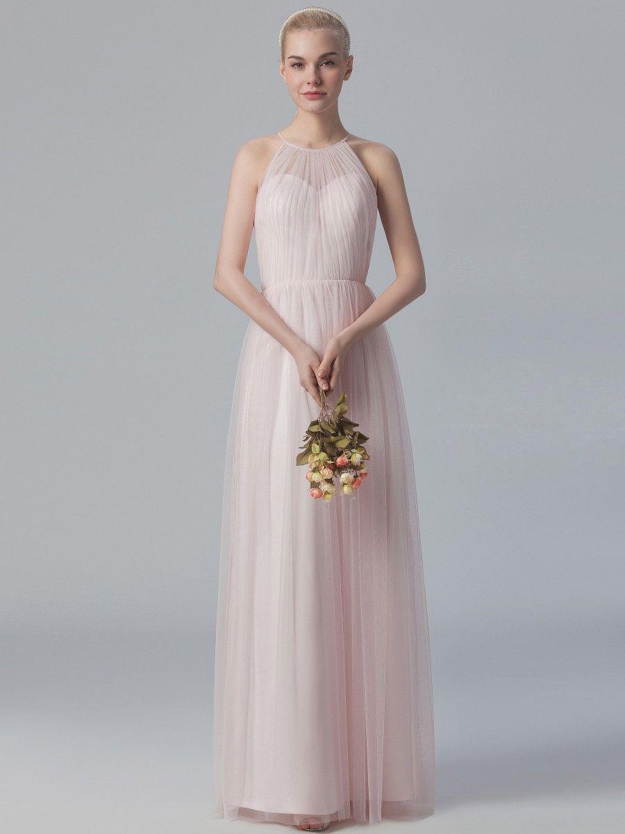 a007e07b439 Chiffon floor length Bridesmaid s dress. High neck