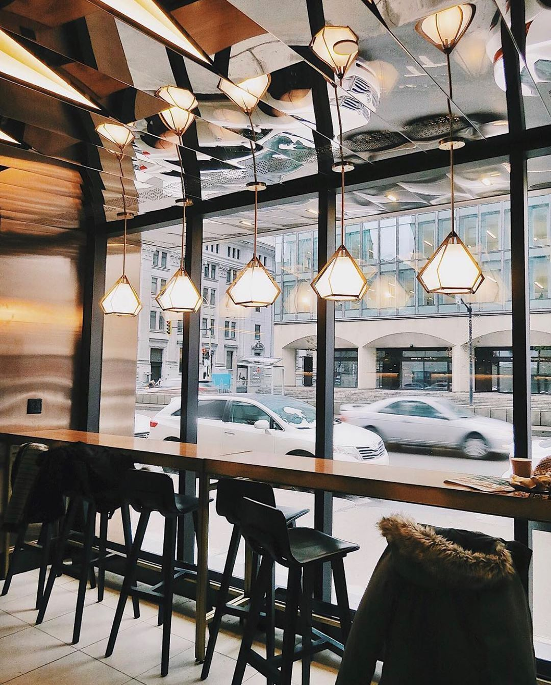 Street View From Krema Cafe Montreal Cafe Window London Cafe Bar Interior Design