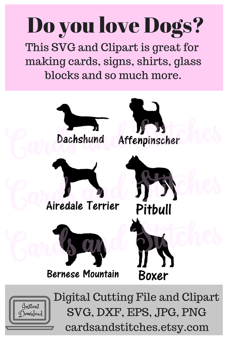 These Dog Silhouettes SVG Digital Cutting File are perfect for ...
