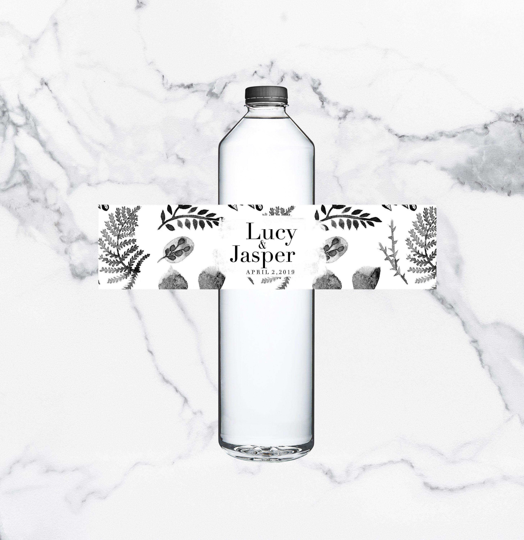 Drink labels diy bottle labels wedding water bottle