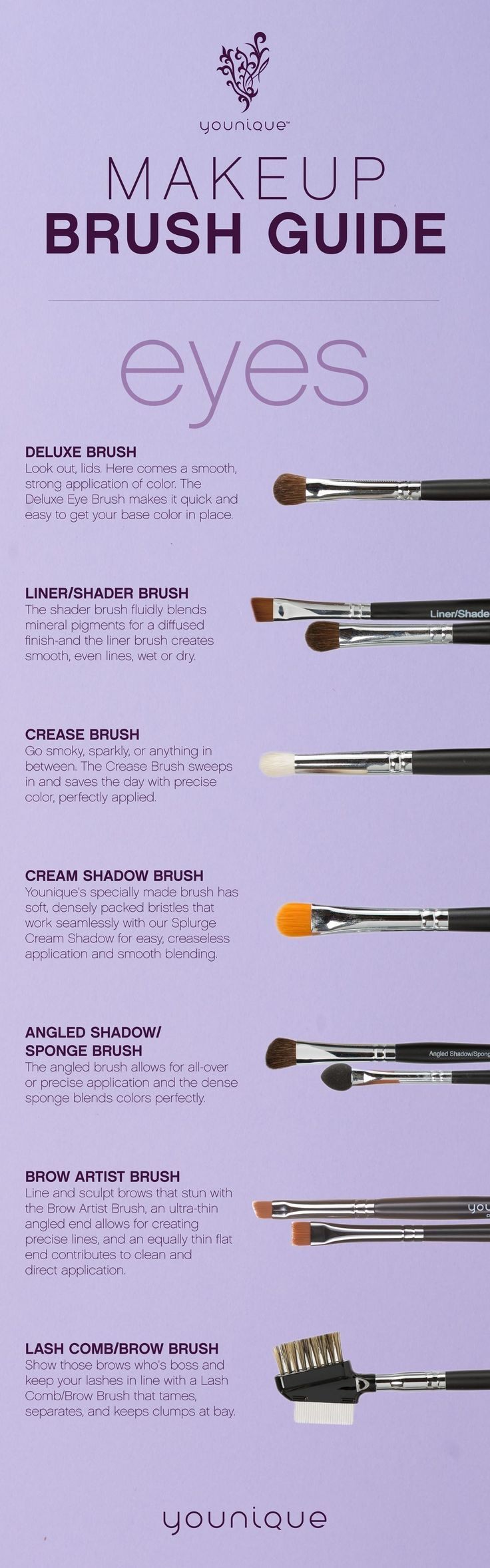 Younique Eye Makeup Brush Guide younique