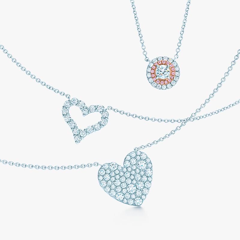 Eternal symbols of affection diamond pendants from top tiffany diamond pendants from top tiffany soleste in platinum and rose gold with pink diamonds tiffany hearts in platinum tiffany metro heart in white gold aloadofball Image collections