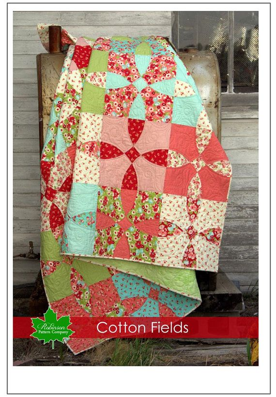Cotton Fields Quilt Pattern by SwatchesFabrics on Etsy | Precuts ... : big and bold quilt pattern - Adamdwight.com