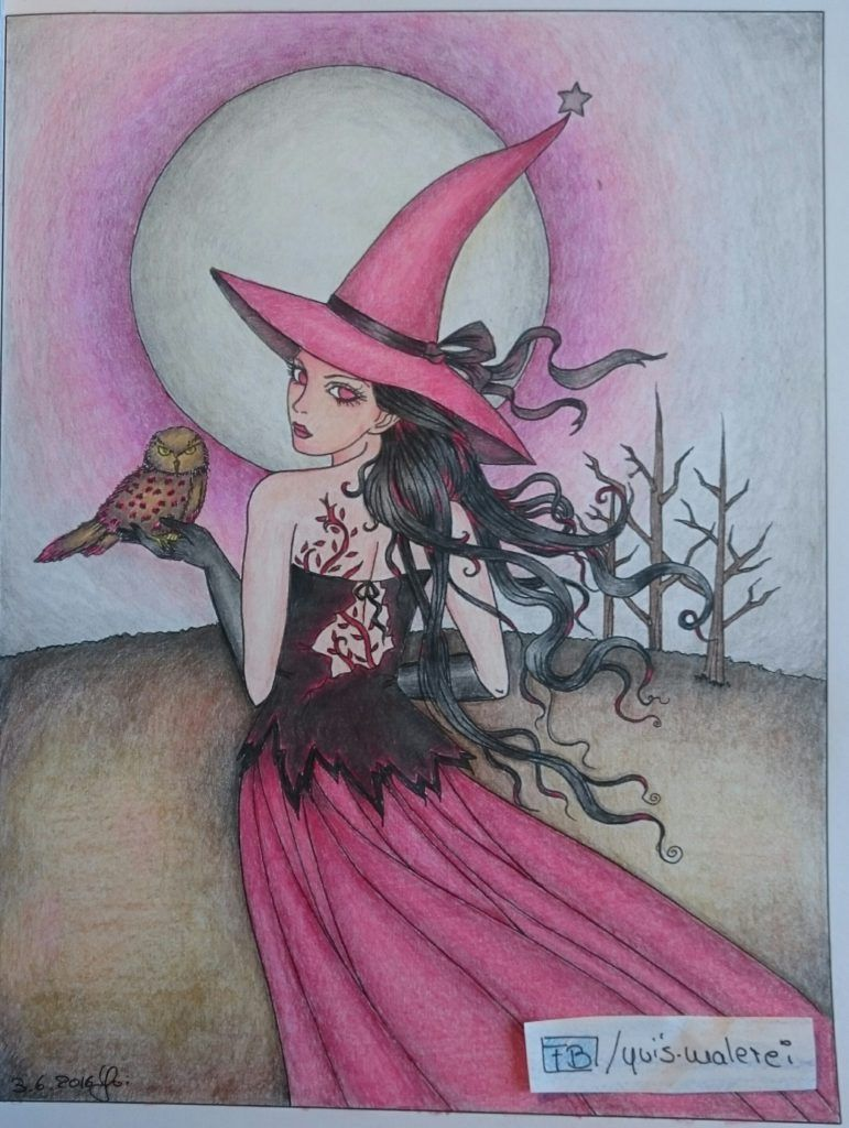 Wieder Eine Hexe Gemalt Und Gezeichnet Hexen Acryl Malen Und