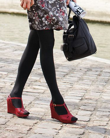9ffc48dde Red shoes with black tights