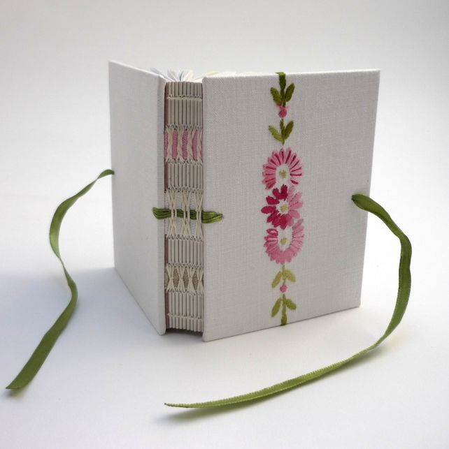 Small Vintage Embroidered Book