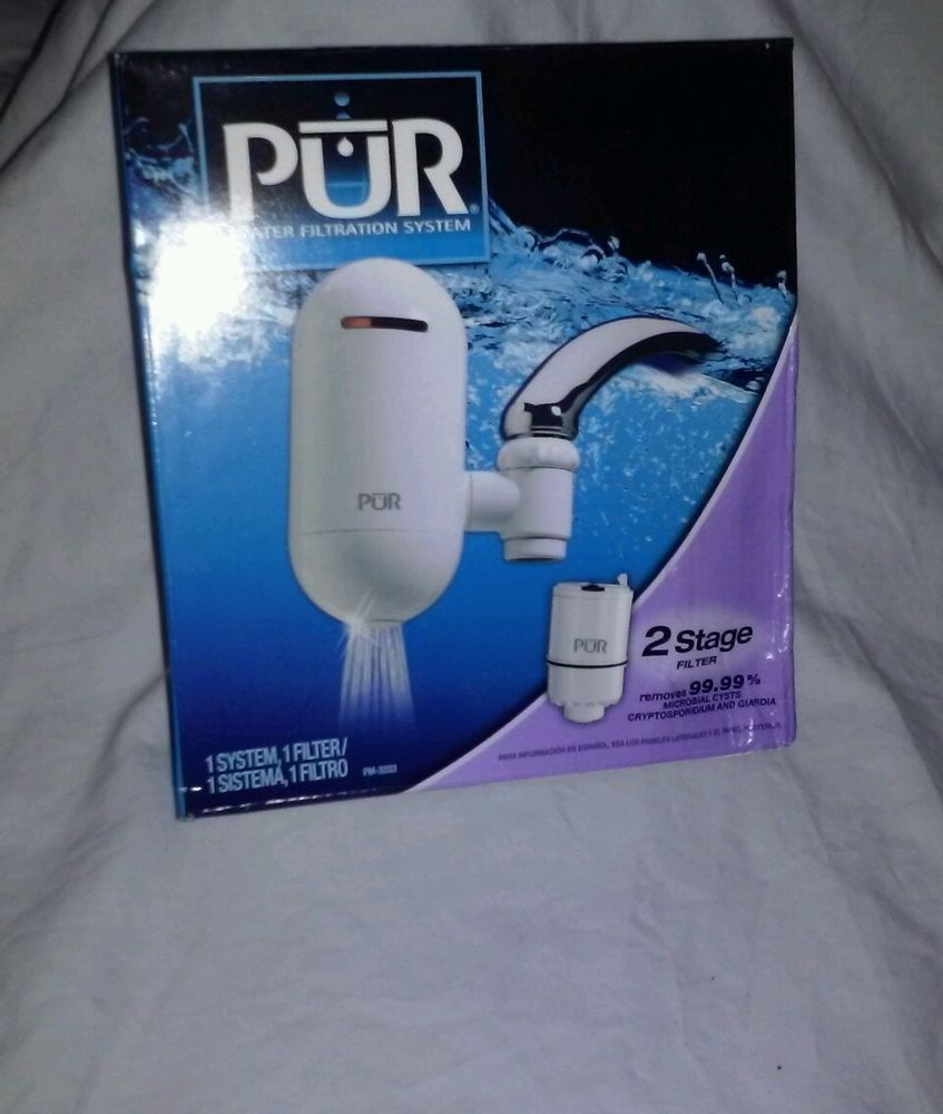 Water PUR 2-stage Vertical White Faucet Mount Fm-3333b Drink Aqua ...