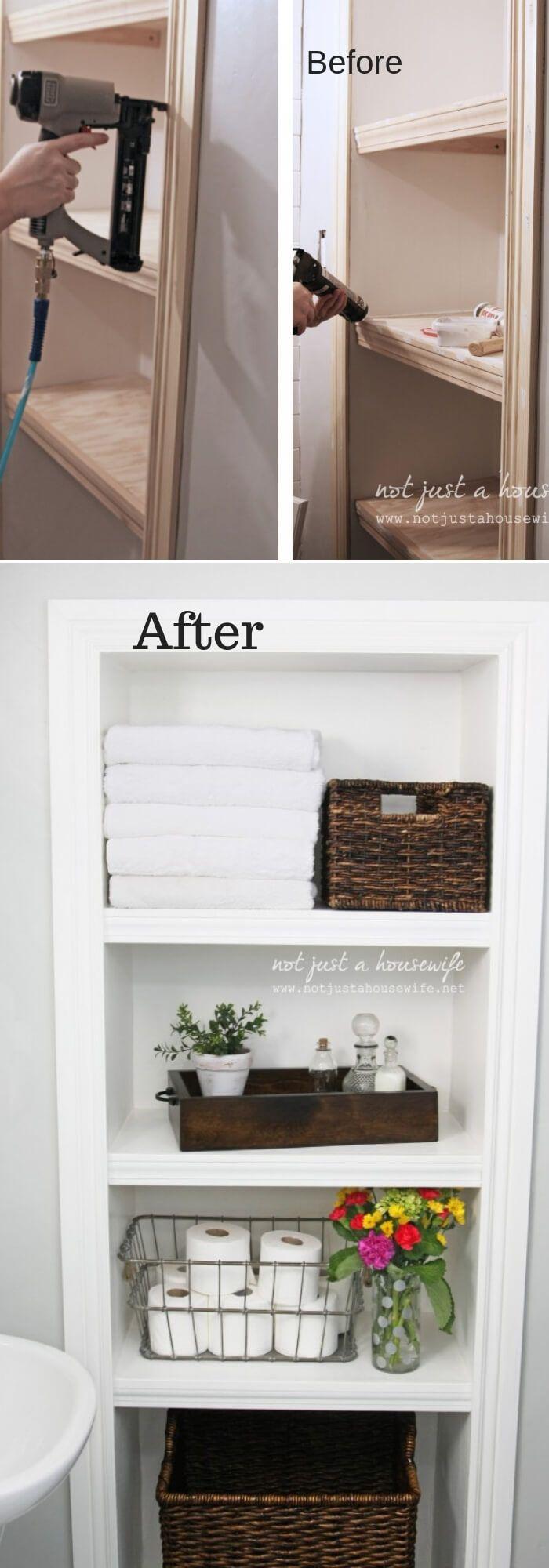 21 totally inspiring bathroom organization shelves to