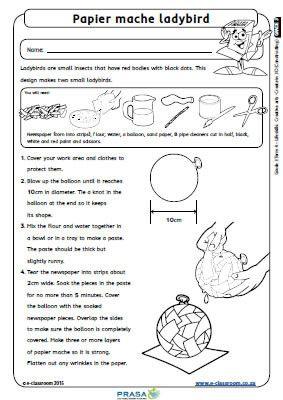 Grade 3 Lifeskills – Term 4 – Creative Arts (ENG) - e-classroom   Free education worksheets for schools
