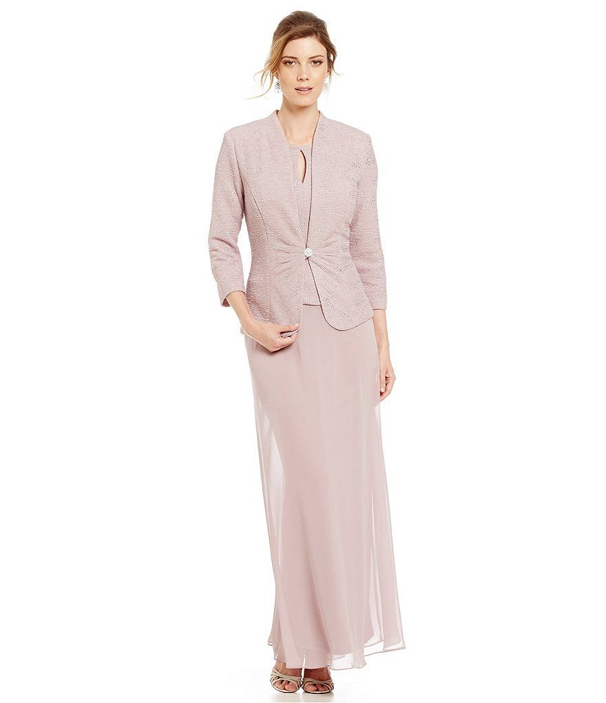 Alex evenings keyhole long jacket dress alex evenings suit