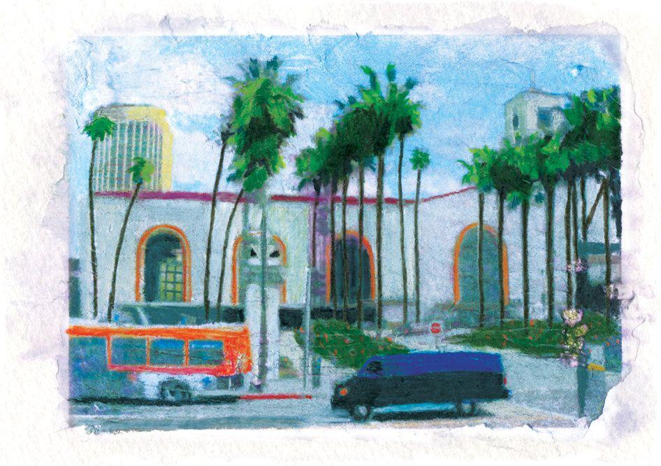 Union Station Los Angeles Art Print 20 00 Via Etsy Art Prints Art Los Angeles Art