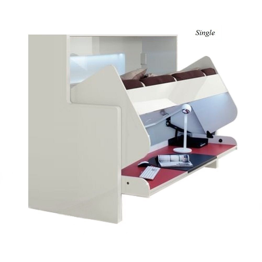Multifunctional Horizontal Single Double Wall Bed/Desk Space Saving Murphy Bed