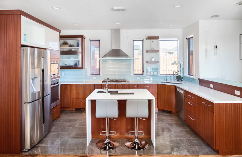 25 U Shaped Kitchen Designs Pictures  White Counters Counter Mesmerizing Kitchen Design For U Shaped Layouts 2018