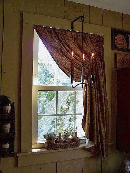 Love This Window Primitive Bedroom Primitive Curtains