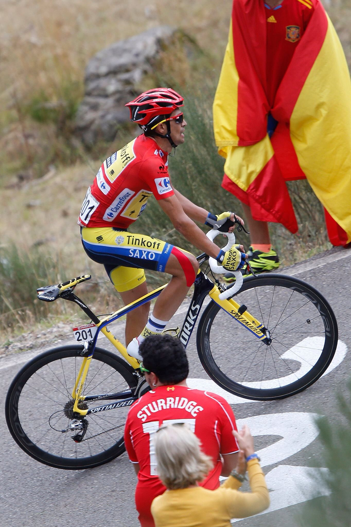 Contador attacking on stage 16 of VaE 2014.....what a stage!