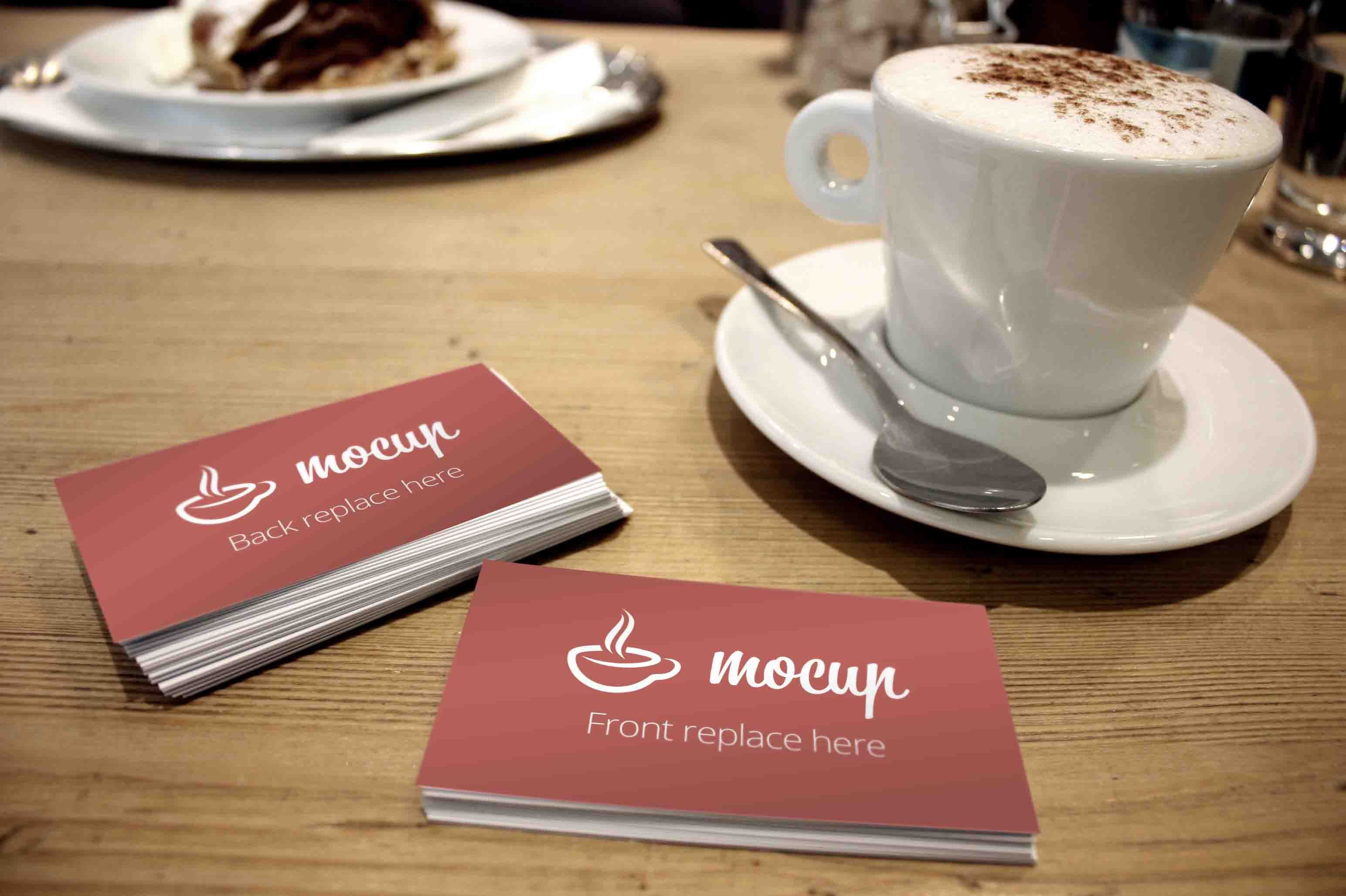 Business Card Mockup Coffee Table