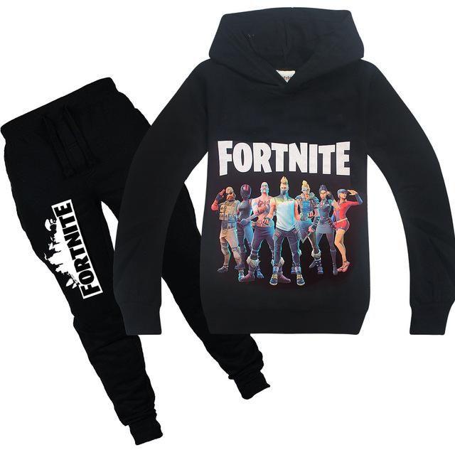 ff63741925 Fortnite Battle Royal Skins Black Hoodie + Black Soccer Pants Combo Set Gift