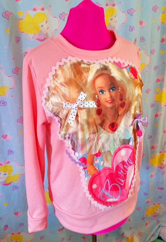 Barbie sweater 80s sweatshirt beauty supply by missalphabet