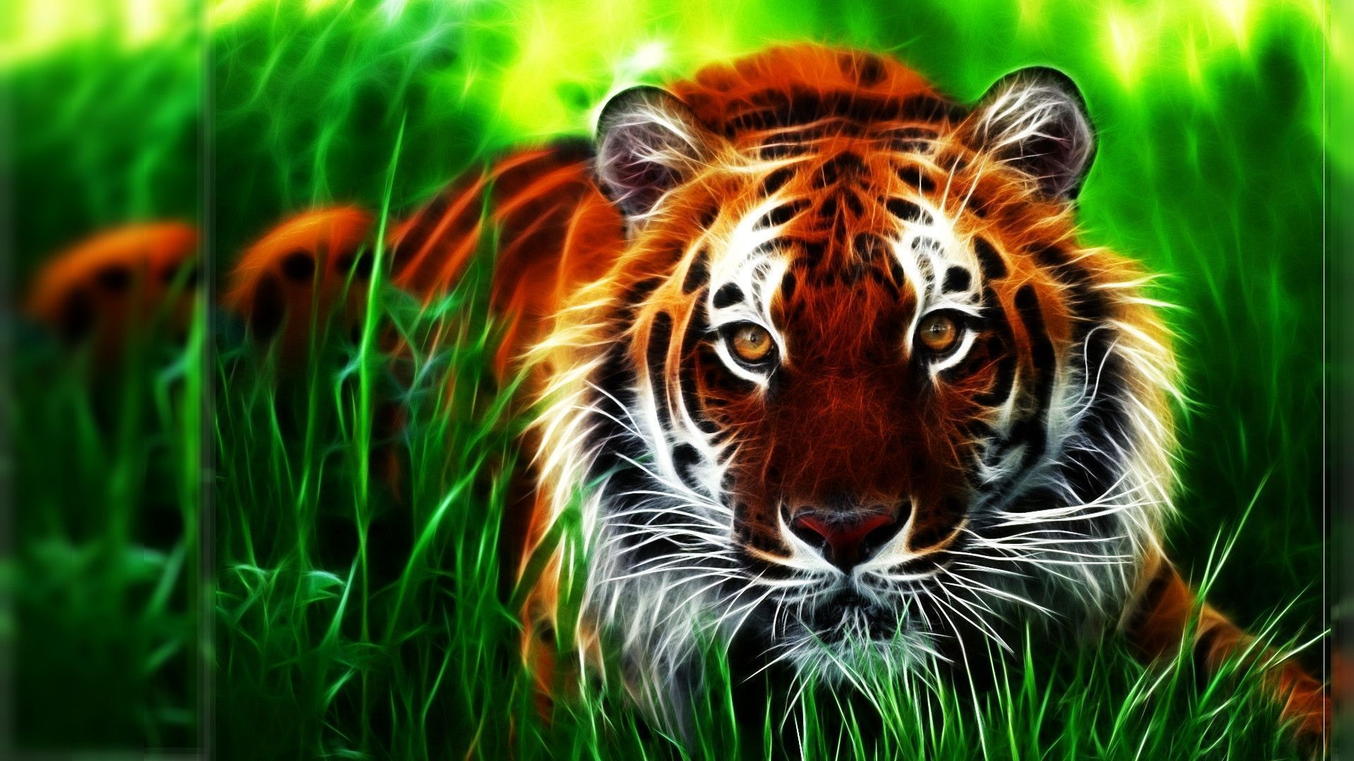 Full Hd 3d Wallpapers 1920x1080 See More On Classy Bro Imagenes De Tigres Animales Animados Fractales