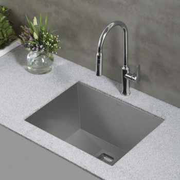 Kraus Khu24l 24 Inch Zero Radius Single Bowl Stainless Steel Utility Sink With 18 Gauge Noisedefend Sound Dampening System Handmade Design 95 Degree Angled W Utility Sink Sink Sink Design
