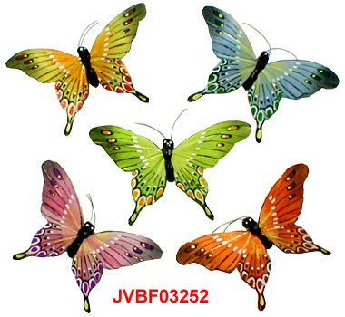 The Artificial pastel butterflies are the elaborately handcrafted butterflies with exquisite design.Beautiful Feather Butterflies in assorted colors and sizes! Artifical Butterflies-Decorative Butterflies-Fake Butterflies-Floral Crafts.