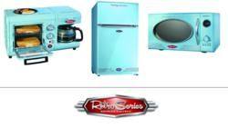 Wholesale Kitchen Appliances Build Island Bj S Club Is Carrying Nostalgia Electrics Including A Retro Style Microwave 3 In 1 Breakfast Unit And Mini
