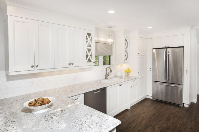 A Crisp White Kitchen With Cambria Quartz Summerhill Countertops